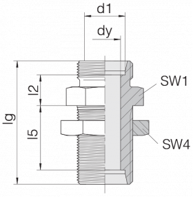 Соединение переборочное 24-BHSLN-L8