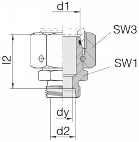Соединение с гайкой 24-SWOS-L28-L18