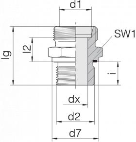 Соединение штуцерное 24-SDS-L12-G3/8E