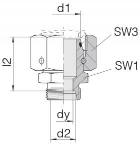 Соединение с гайкой 24-SWOS-S25-S8