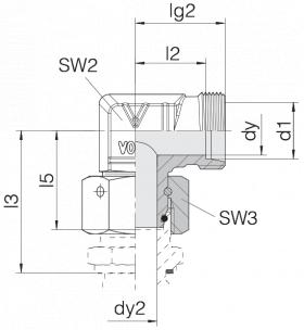 Соединение с гайкой 24-SWOE-L6-P