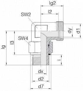 Соединение с контргайкой 24-SDAE-L28-G1E