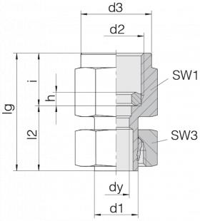Соединение для манометра 24-SWPGS-L8-IG1/4B