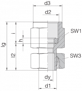 Соединение для манометра 24-SWPGS-S8-IG1/2B