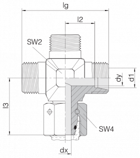 Соединение с гайкой 24-SWOK-L18