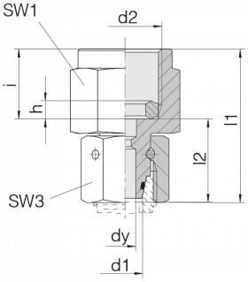 Соединение для манометра 24-SWOPGS-L6-IG1/4B