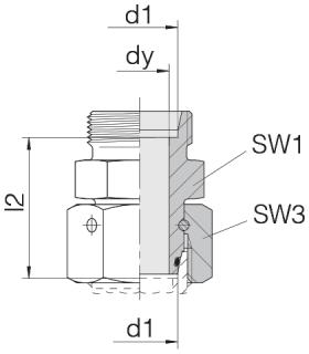 Соединение с гайкой 24-SWOS-L8