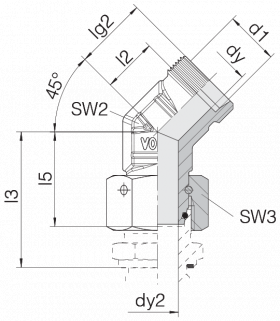 Соединение с гайкой 24-SWOE45-S20