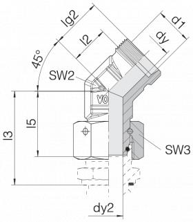 Соединение с гайкой 24-SWOE45-L22
