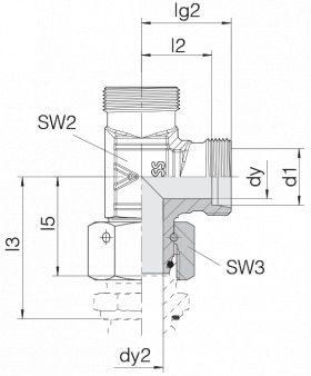 Соединение с гайкой 24-SWOL-L6-P
