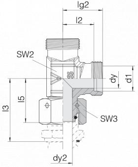 Соединение с гайкой 24-SWOL-S8-P