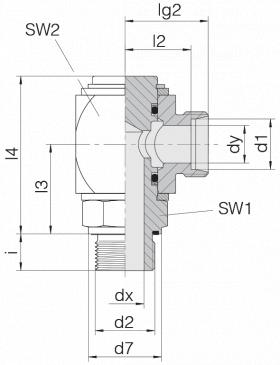 Соединение вращающееся 24-RCE-L12-M16E-C10