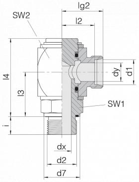 Соединение вращающееся 24-RCE-L12-G3/8E-C10
